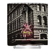 Hard Rock Philly Shower Curtain by Bill Cannon