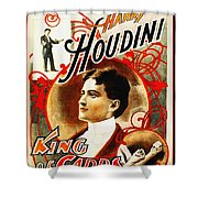 Harry Houdini - King Of Cards Shower Curtain by Digital Reproductions