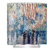 Hassam Avenue In The Rain Shower Curtain by Granger