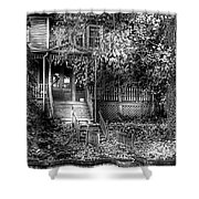 Haunted - Abandoned Shower Curtain by Mike Savad