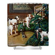 He Who Pays the Piper Calls the Tune Shower Curtain by John Hayes