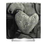 Heart Rock Shower Curtain by Toni Hopper