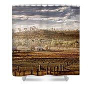 Heartland Shower Curtain by Holly Kempe