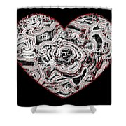 Heartline 1 Shower Curtain by Will Borden