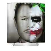 'Heath / Joker' Shower Curtain by Christian Chapman Art