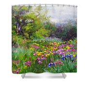 Heaven Can Wait Shower Curtain by Talya Johnson