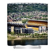 Heinz Field Pittsburgh Steelers Shower Curtain by Lisa Russo