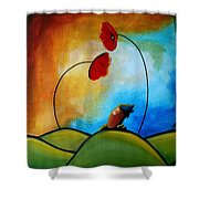 Hello Shower Curtain by Cindy Thornton