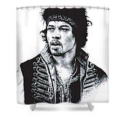 Hendrix No.02 Shower Curtain by Caio Caldas