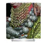 Henna Ceremony  Shower Curtain by Chen Leopold