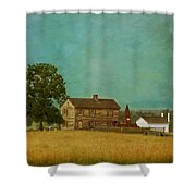 Henry House At Manassas Battlefield Park Shower Curtain by Kim Hojnacki