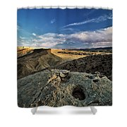 Henry Mountain Wsa Shower Curtain by Leland D Howard