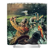 Hereward The Wake Shower Curtain by Andrew Howat