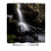 Hidden Falls Shower Curtain by Mike  Dawson