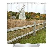 Higgins Farm Windmill Brewster Cape Cod Shower Curtain by Matt Suess