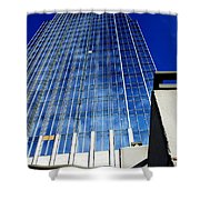 High Up To The Sky Shower Curtain by Susanne Van Hulst