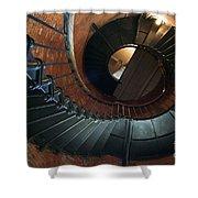 Highland Lighthouse Stairs Cape Cod Shower Curtain by Matt Suess