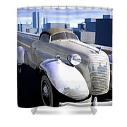 Highway Shower Curtain by Cynthia Decker