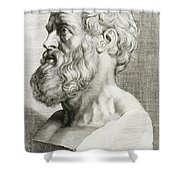 Hippocrates, Greek Physician Shower Curtain by Science Source