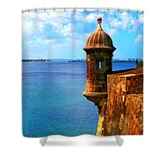 Historic San Juan Fort Shower Curtain by Perry Webster