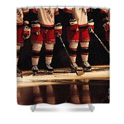 Hockey Reflection Shower Curtain by Karol Livote