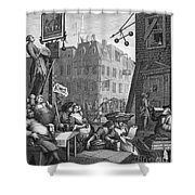 HOGARTH: BEER STREET Shower Curtain by Granger