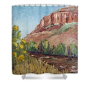 Hogback In Early Fall At Watson Lake Shower Curtain by Margaret Bobb