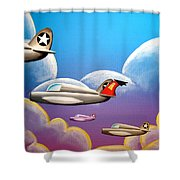 Hold On Tight Shower Curtain by Cindy Thornton