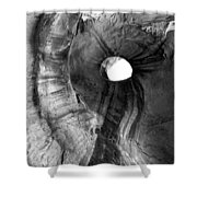 Hole in the Roof Shower Curtain by Mike  Dawson