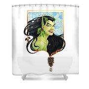 Holly Elf Shower Curtain by Melissa A Benson