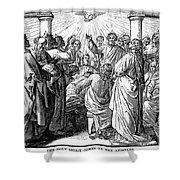 Holy Spirit Visiting Shower Curtain by Granger