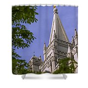 Holy Temple Shower Curtain by Chad Dutson
