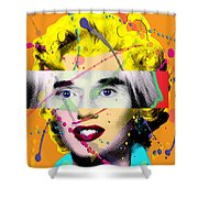 Homage To Warhol Shower Curtain by Gary Grayson