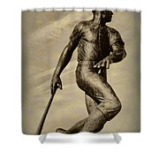 Home Run Shower Curtain by Bill Cannon