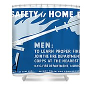 Home Safety Is Home Defense Shower Curtain by War Is Hell Store