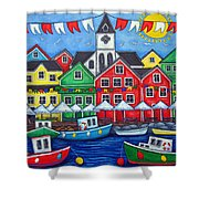 Hometown Festival Shower Curtain by Lisa  Lorenz