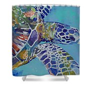 Honu Shower Curtain by Marionette Taboniar