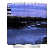 Hook Head Lighthouse, Co Wexford Shower Curtain by The Irish Image Collection