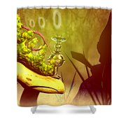 Hookah Smoking Caterpillar Shower Curtain by Carol and Mike Werner