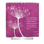 Hope and Future Shower Curtain by Linda Woods