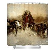 Horse Spirit Guides Shower Curtain by Shanina Conway