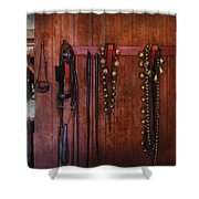 Horse Trainer - Jingle Bells Shower Curtain by Mike Savad