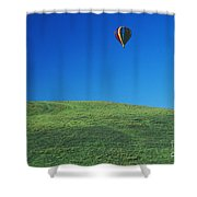 Hot Air Balloon In Hawaii Shower Curtain by Peter French - Printscapes