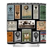 Hot Air Balloon Posters Shower Curtain by Andrew Fare