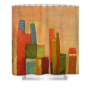 Hot Manhattan Shower Curtain by Habib Ayat