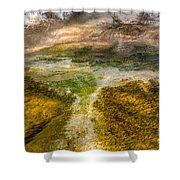 Hot Springs Pool Shower Curtain by Sue Smith