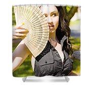Hot Woman Shower Curtain by Ryan Jorgensen
