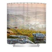 Hound Tor Shower Curtain by Sebastian Wasek