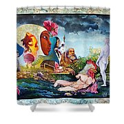 Hour Of The Cock Shower Curtain by Otto Rapp