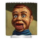 Howdy Doody dodged a bullet Shower Curtain by James W Johnson